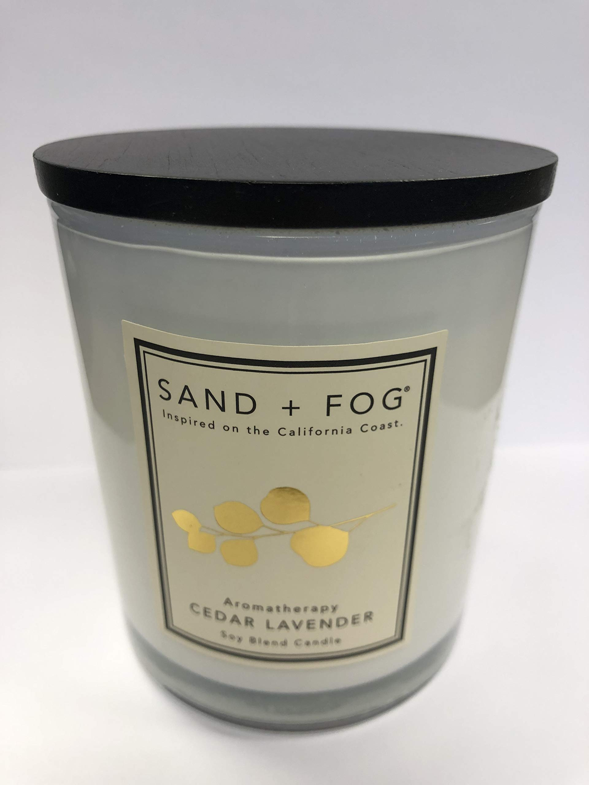 Sand + Fog Aromatherapy Cedar Lavender Soy Blend Candle 12 Oz