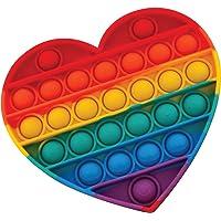 Pop It Rainbow Heart, Push Pop Bubble Fidget Sensory Toy, Stress Relief and Anxiety Bubble Squeeze Toy, Autism Fidget…