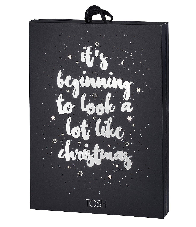 TOSH Damen Schmuck Adventskalender mit 24 Premium Schmuck Überraschungen mit Ohrring, Ring, Armband, Kette 701-021