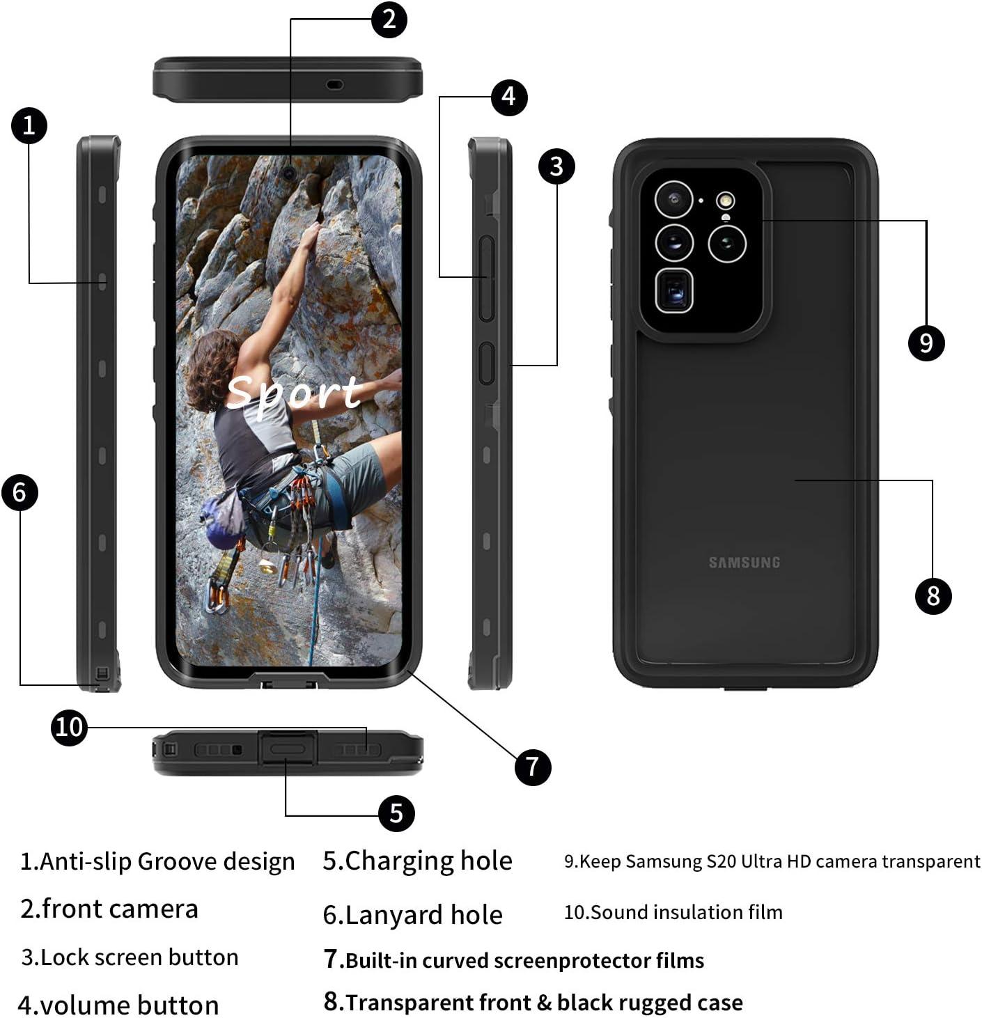 Bdig Case S20 Ultra Waterproof 360 Degree All Round Elektronik