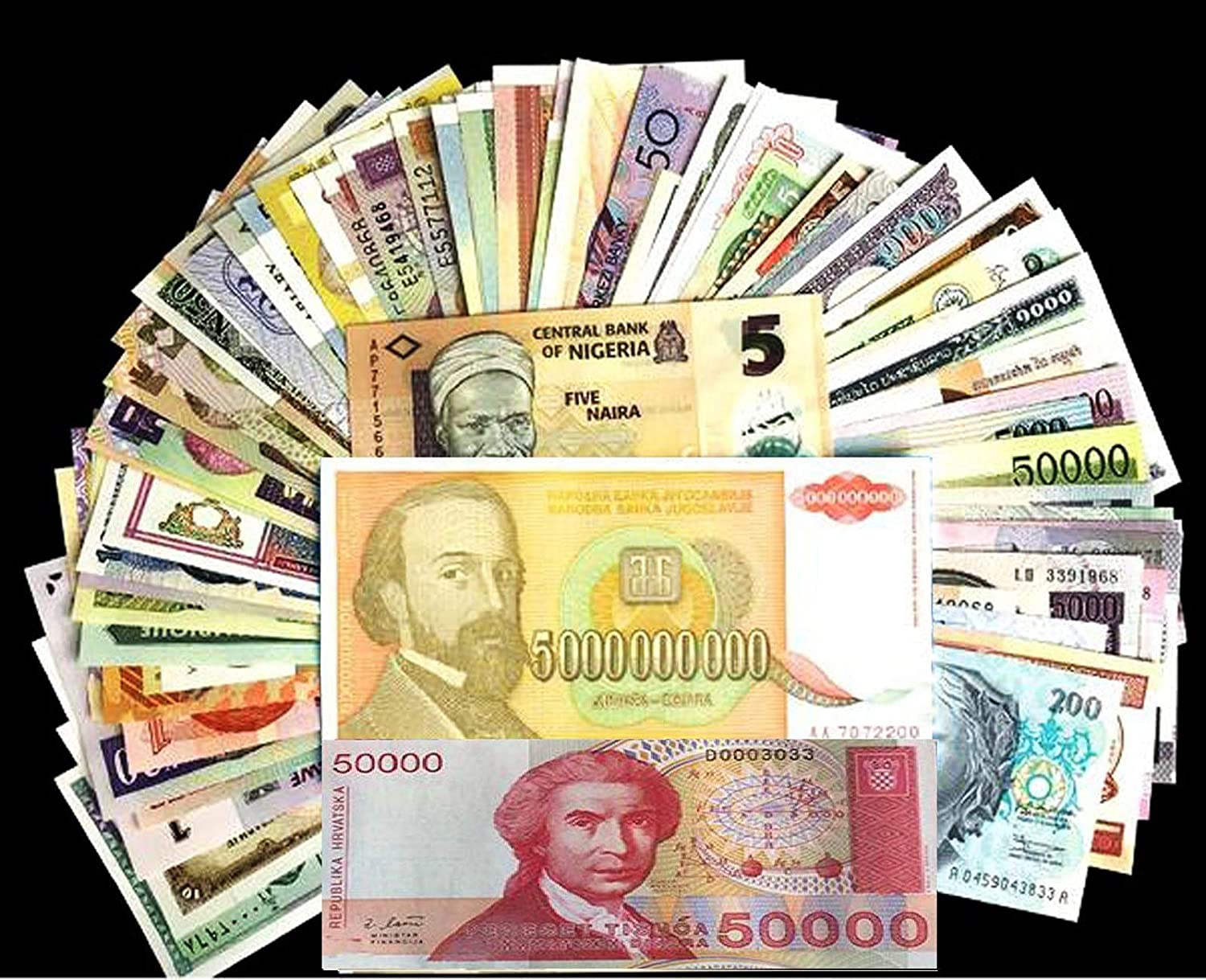 Brand New World Currency Different Paper Money Banknotes Collection UNC 59 pcs