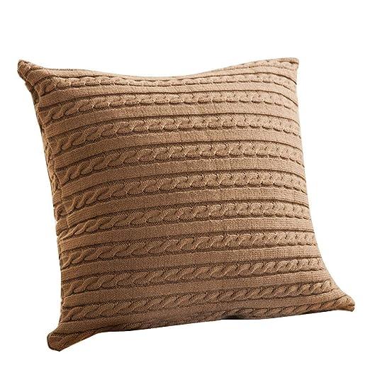Amazon.com: Funda de cojín de punto para sofá, decoración ...