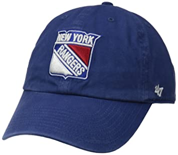 2a1530c243d156 47 Brand H-RGW13GWS-RY NHL New York Rangers Clean up Adjustable Cap (Royal,  One-Size), Baseball Caps - Amazon Canada