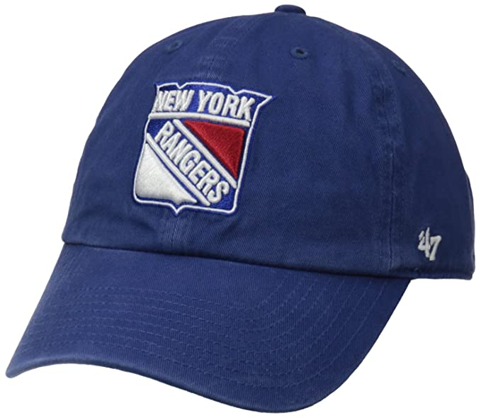 47 Brand NHL New York Rangers  47 Clean Up-Berretto da Baseball Uomo ... 972805d6ac96