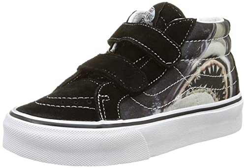 f1ea20240783 Vans Kid Shoes SK8-Mid Reissue Velcro (Digi Shark) Black True White