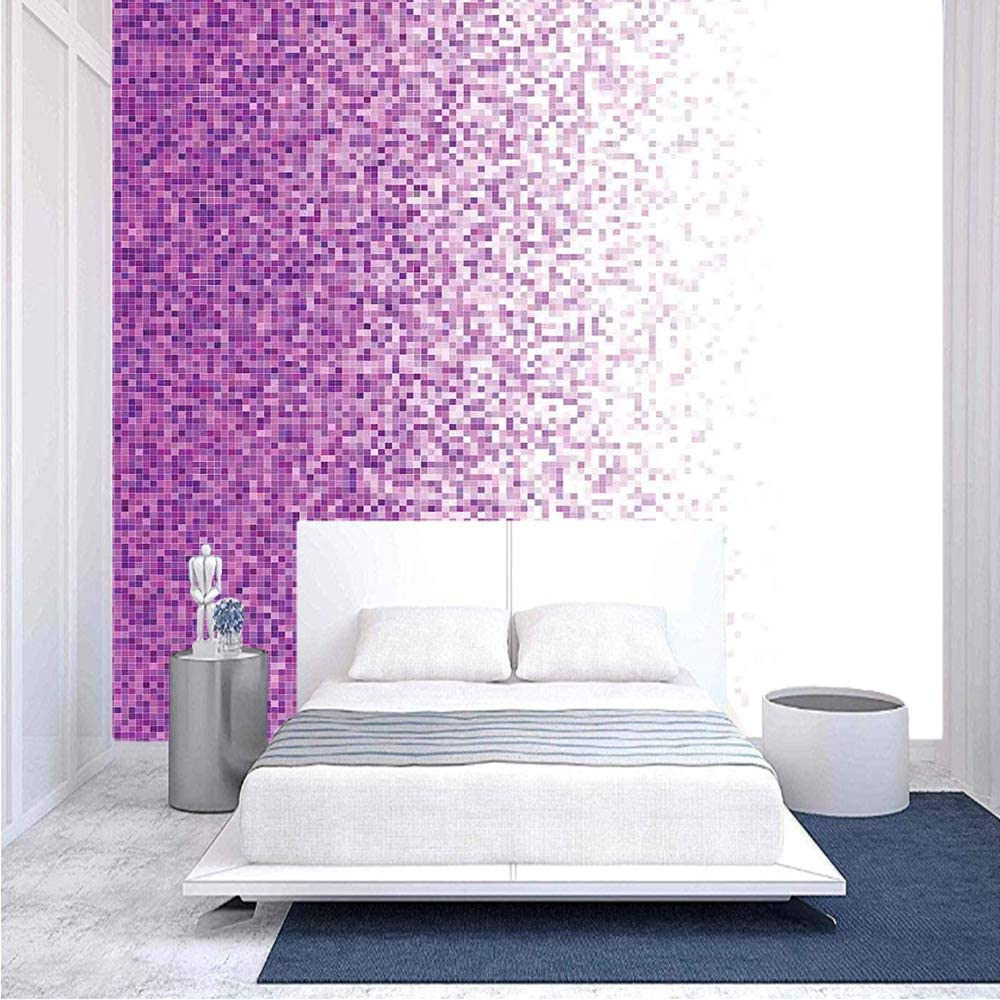 Amazon Com 100x100 Inches Wall Mural Computer Art Style Tile Mosaic Squared Complex Pixel Party Mix Art Concept Peel And Stick Self Adhesive Wallpaper Removable Large Wall Sticker Wall Decor For Home Office Home
