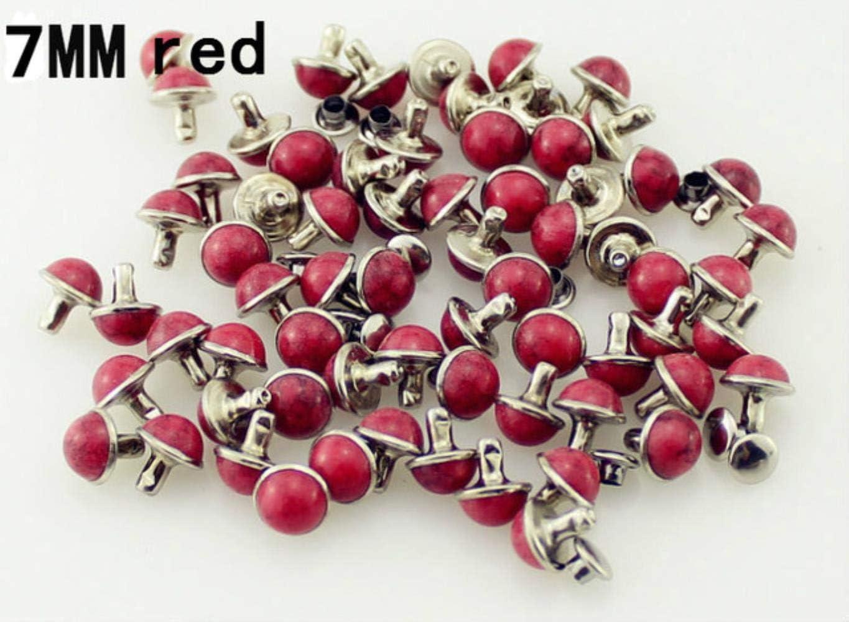 accesorio de bricolaje para ropa Juego de 100 remaches de lat/ón y turquesa para tachuelas de cuero y pinchos para ropa