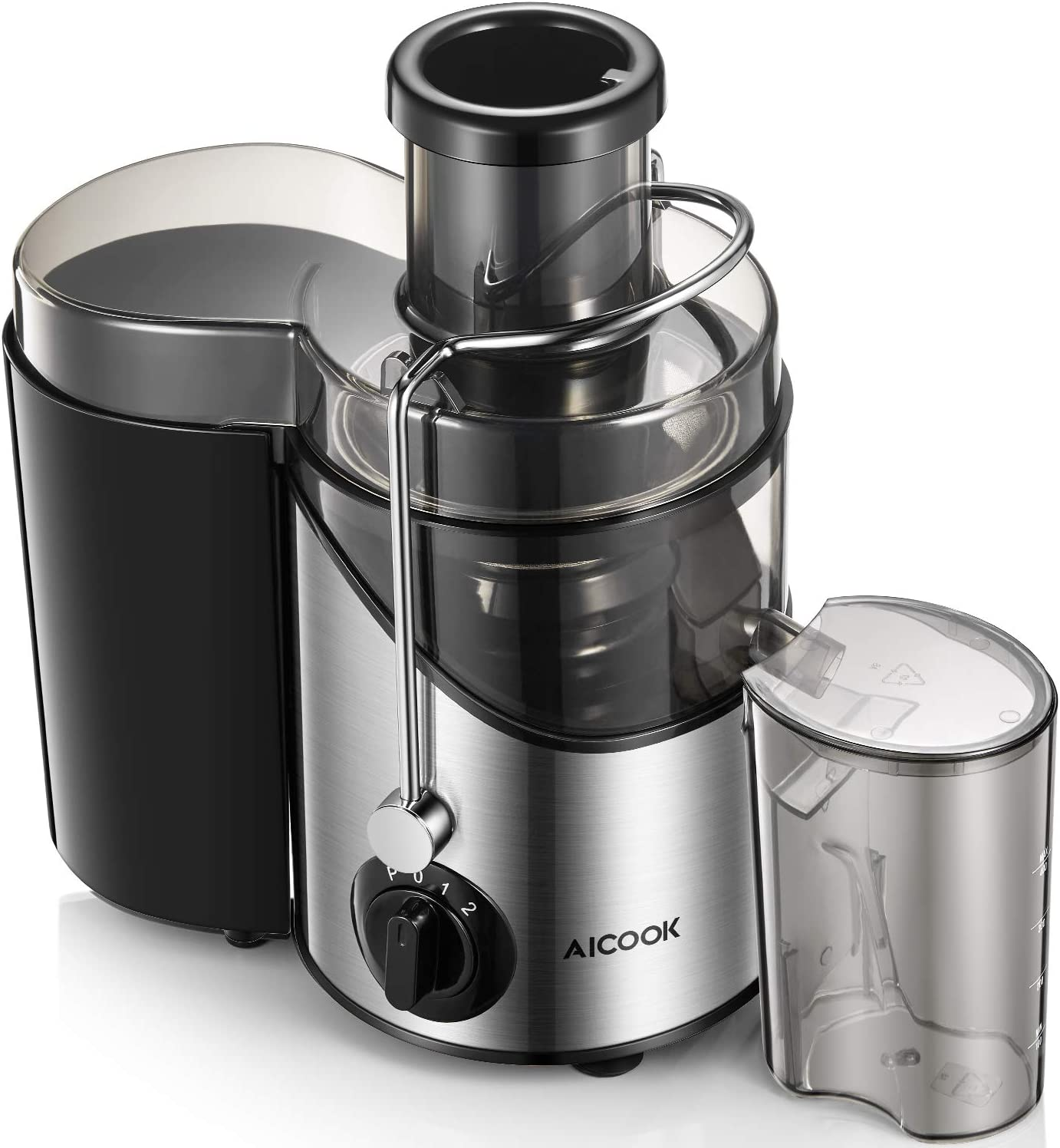 Juicer, Aicook Upgrade Juice Extractor with 3 Wide Mouth, 3 Speed Centrifugal Juicer Machine for Fruits and Vegs, Non-Slip Feet, BPA-Free, Fast and Easy Clean
