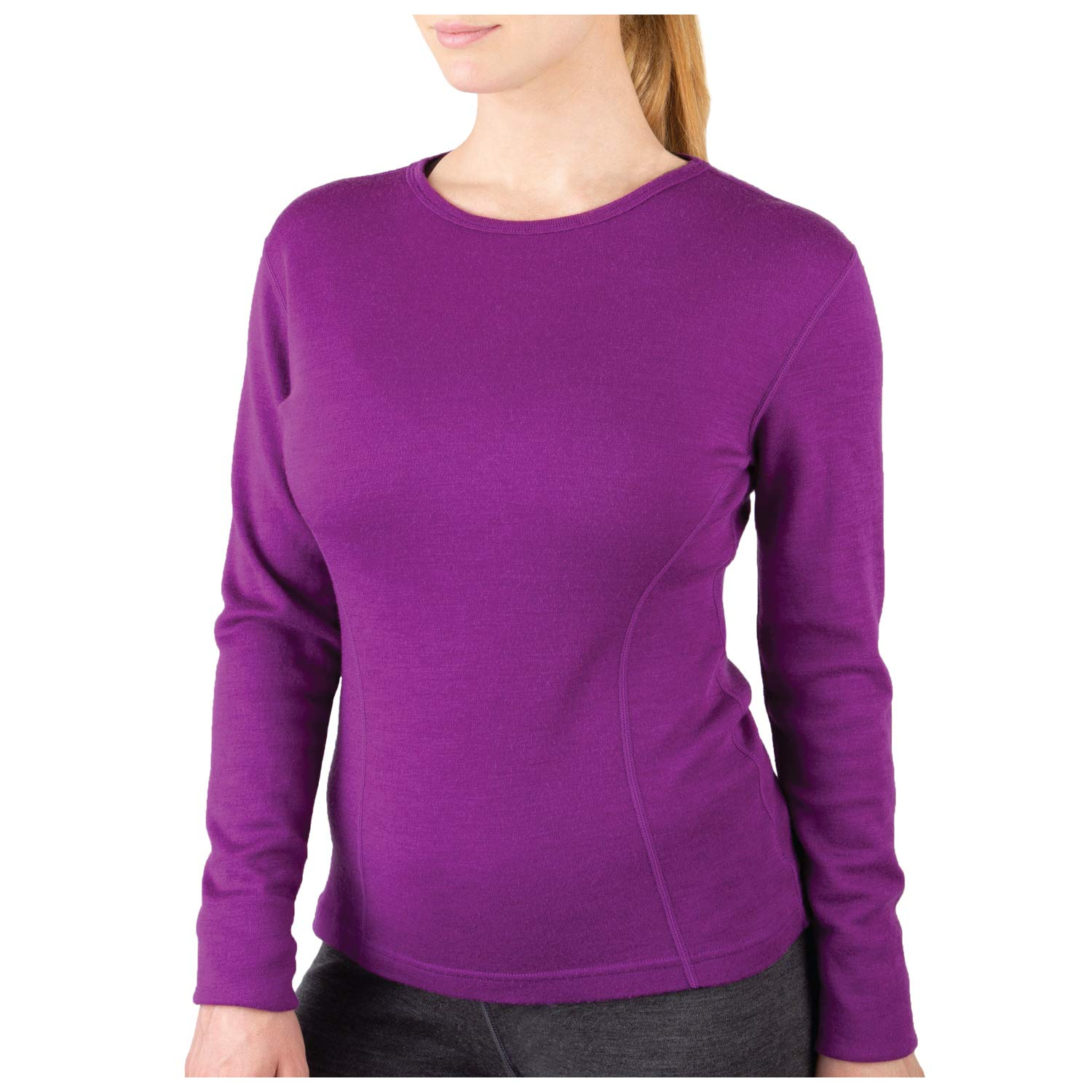 MERIWOOL Womens Base Layer 100% Merino Wool Midweight Long Sleeve Thermal Shirt by MERIWOOL