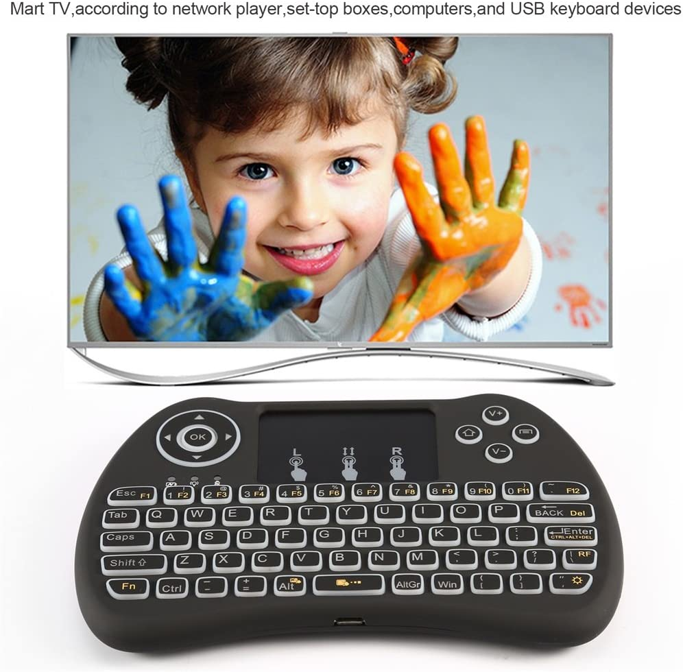 Backlight ZenzeComm 2.4G Mini Wireless Keyboard with Touchpad Backlit Handheld Wireless Keyboard Mouse Combo for Android TV Box Samsung LG Smart TV,PC,XBOX 360,PS4,Raspberry Pi
