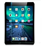 Jacess iPad Pro 9.7 (2017 / 2018) / iPad 9.7 / iPad Air / Air2 に適用 フィルム アイパッド ガラスフィルム 日本旭硝子 強化ガラス 液晶保護フィルム 高透過率 指紋防止 取り付け簡単 気泡ゼロ 硬度9H みみ付き