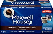 Maxwell House Dark Roast Coffee Keurig K-Cup Pods, 72 Pods (6 Boxes of 12 Pods)