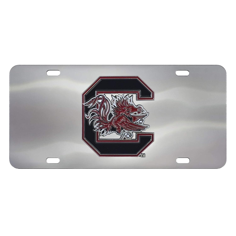 South Carolina Gamecocks 3D Logo Chrome License Plate