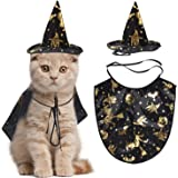 Legendog Cat Halloween Costume,1 Pcs Pet Cape/Cat cloak with Witch Hat/Pet Cloak Costume for Cats and Small Dogs Halloween Cosplay Party Decoration