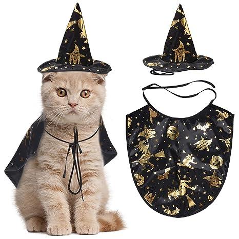 Legendog Disfraz de Halloween de Gato, Capa de Mago con ...