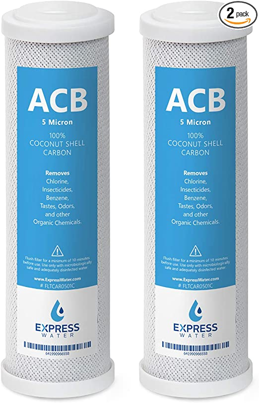 "CTO Carbon Block Water Filter 10/""x2.5/"" Replacement for APEC 5 Stage Water System"
