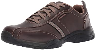 SKECHERS Mens Rovato Larion Shoes Brown