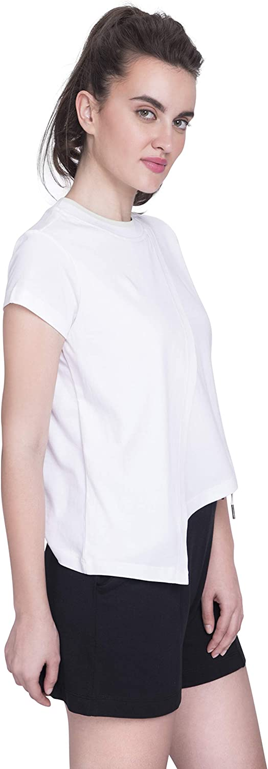 Heather Grey Satva Premium Organic Cotton Layered Short Sleeve T-Shirt Round Neck for Yoga Workout Running Sports Training Cycling Discovery Layered Tee X-Small