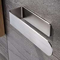 Bath Towel Bar Hand Towel Holder/Hand Towel Ring - Self Adhesive Bathroom Towel Bar Stick on Wall, SUS 304 Stainless…