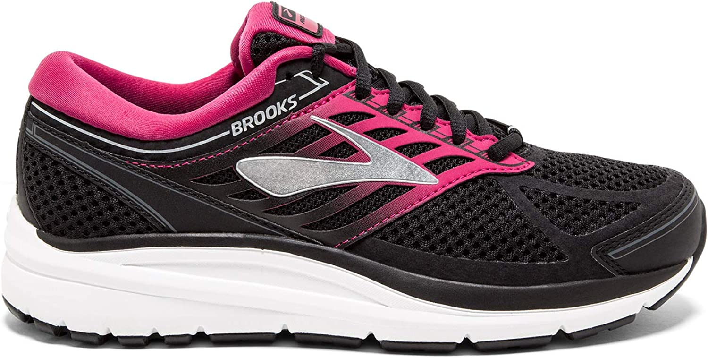 Brooks Addiction 13, Chaussures De Running Femme Multicolore Black Pink Grey 070