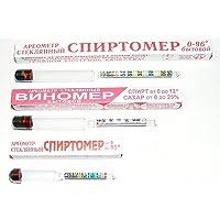 3 Alcoholmeter Spirtometer Hydrometer Alcohol Meter Vinometer Tester 0-96%