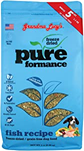 Grandma Lucy's Fish Pureformance Freeze-Dried Grain-Free Dog Food, 1 Pound, Made in The USA