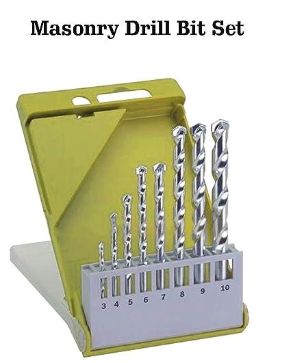 "8 Pcs Masonry Drill Bit Set 1//8/"" to 3//8/"" M2 Carbide Tip Concrete Brick Tile Case"