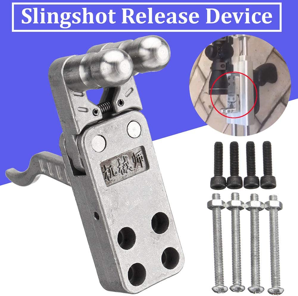 SUBBRY Stainless Steel Slingshot Release Device Polishing DIY Catapult Rifle Trigger
