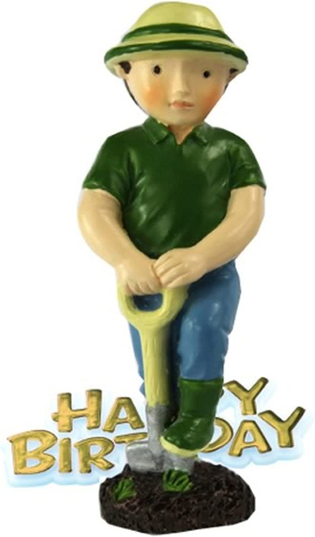 Tremendous Gardener Resin Happy Birthday Cake Decoration Man Amazon Co Uk Funny Birthday Cards Online Alyptdamsfinfo