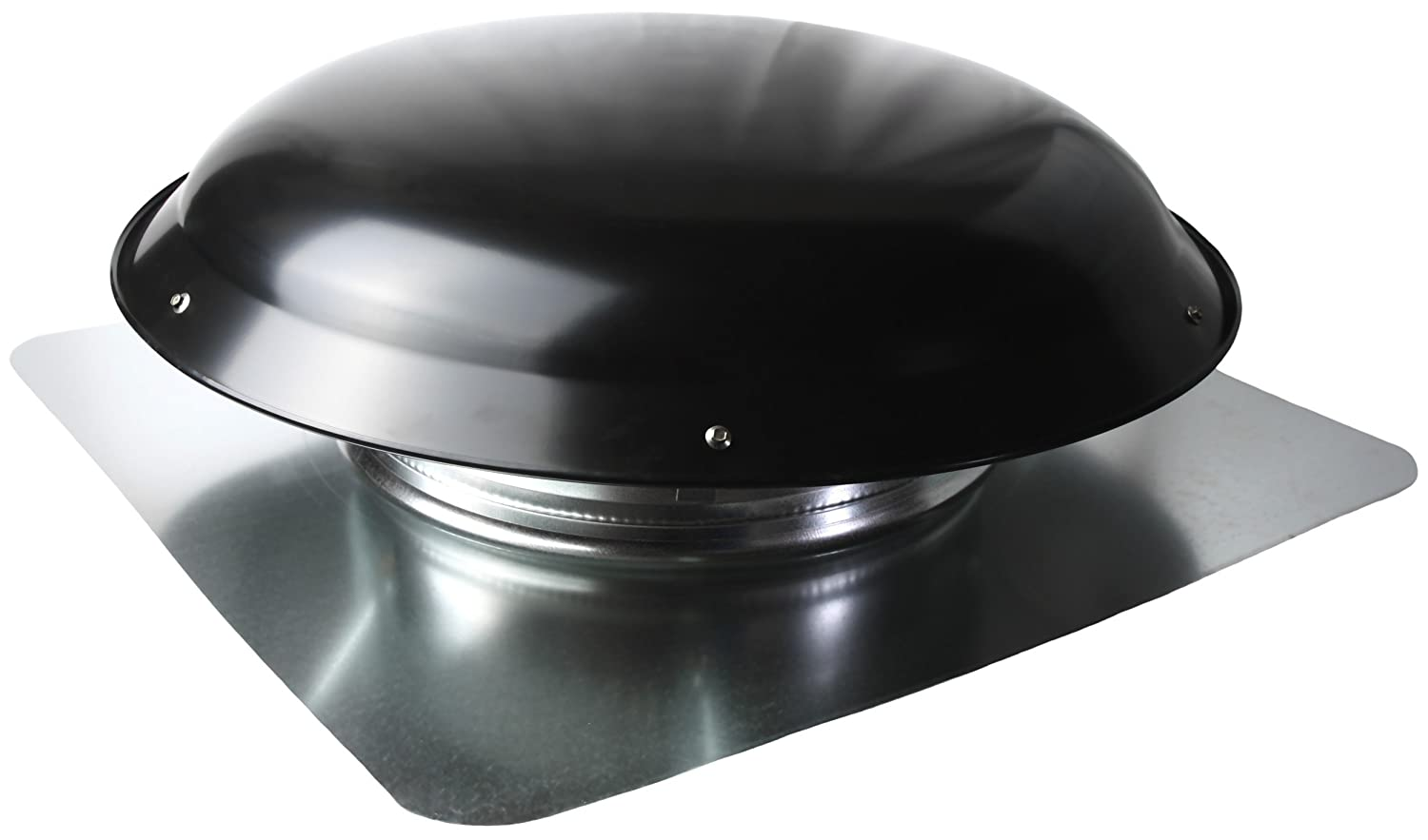 Black Ventamatic Cool Attic CX1000AMBLUPS Power Roof Galvanized Steel Vent Dome with 3.4 Amp Motor