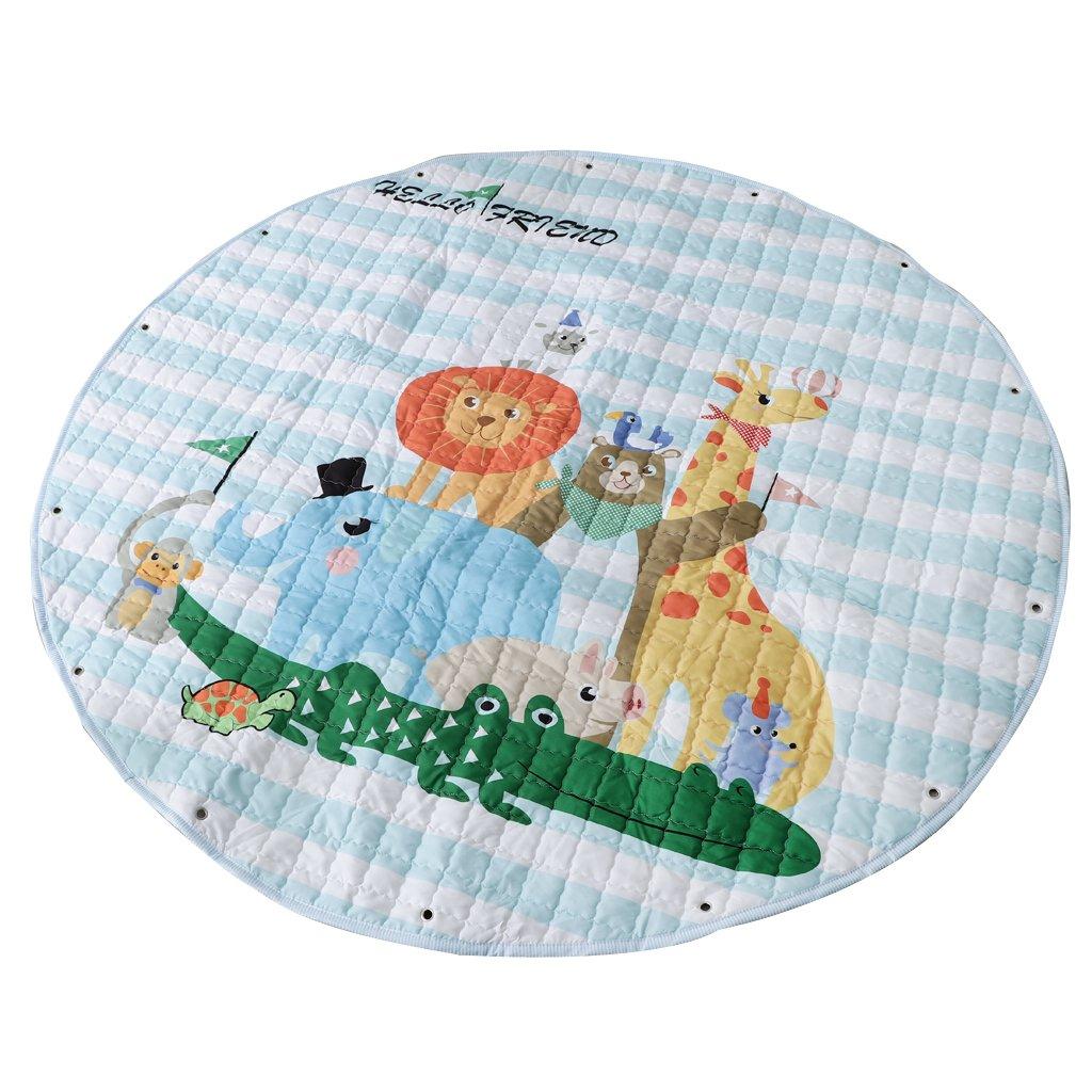60 Zoll // 150cm ca Zoo Fenteer Kinder Aufr/äumsack Cartoon Spielmatte Spieldecke Spielzeug Speicher Kinderteppich Aufbewahrungsbeutel f/ür Kinderzimmer