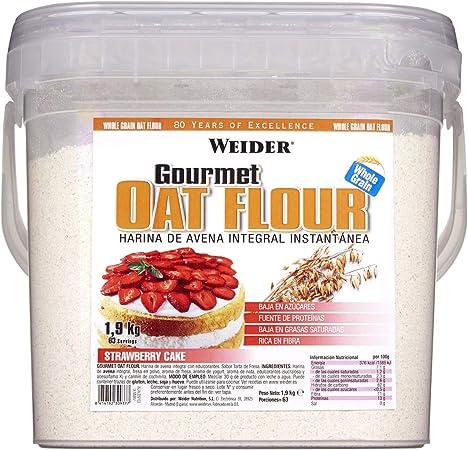 Weider Oat Gourmet. Harina de Avena Integral. Fuente de proteína con bajo contenido en azúcares. Sabor Tarta de Fresa (1,9 kg): Amazon.es: Salud y cuidado personal
