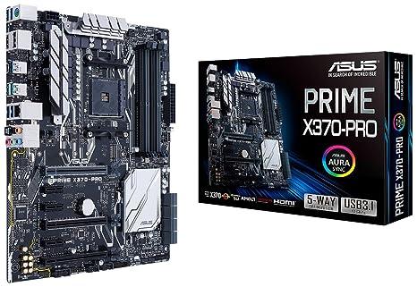 ASUS Prime X370-Pro AMD Ryzen AM4 DDR4 DP HDMI M 2 USB 3 1 ATX X370  Motherboard with Aura Sync RGB Lighting