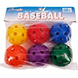 Champion Sports PLBBSET  Multicolored Plastic Baseball Set