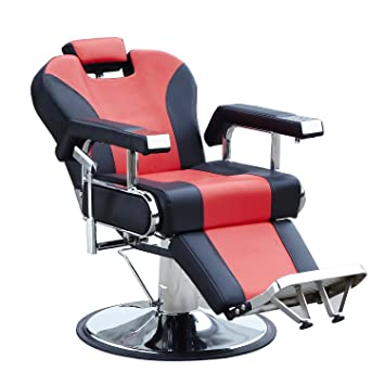 Bsalon Relax Hydraulic Recline Barber Chair Salon Beauty Spa Shampoo Hair  Styling Equipment (Black U0026