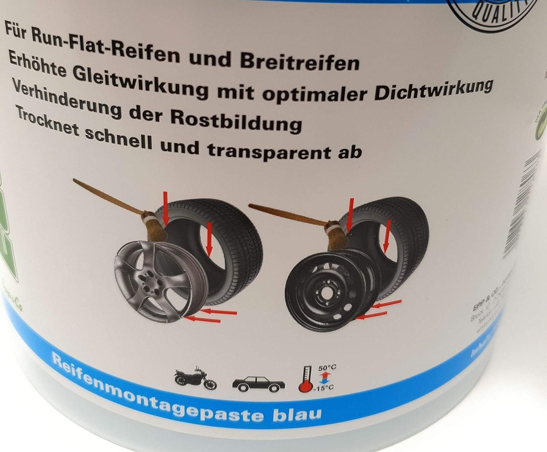 5 kg color azul DWT-Germany 101299 Pasta de montaje de neum/áticos