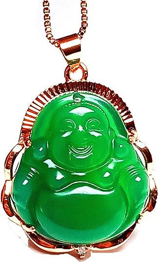 collier bouddha jade homme