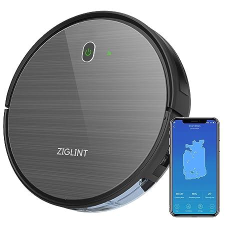 Robot aspirador con mapeo y app, navegación inteligente,Fregasuelos ZIGLINT,Auto-docking para cargar, con Alexa y Google Home, especial Mascotas, ...