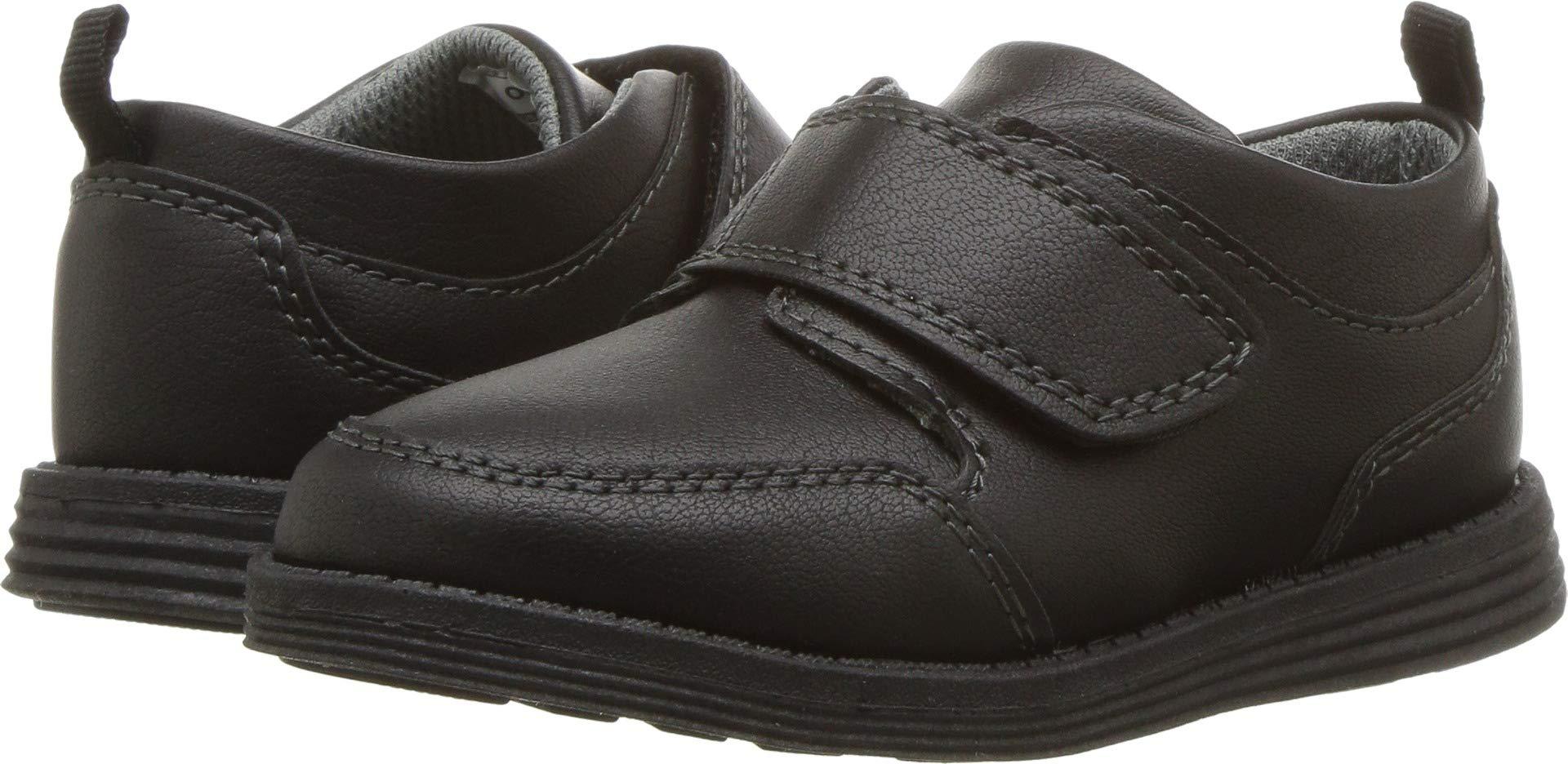 OshKosh B'Gosh Boys' Boas Uniform Dress Shoe, Black, 5 M US Toddler