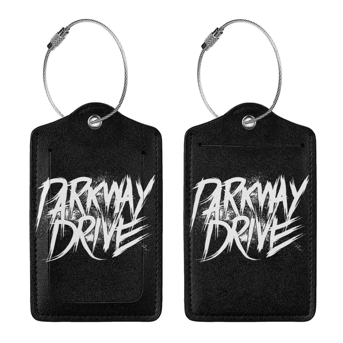 Parkway Drive Leather Luggage Tag Travel ID Label For Baggage Suitcase