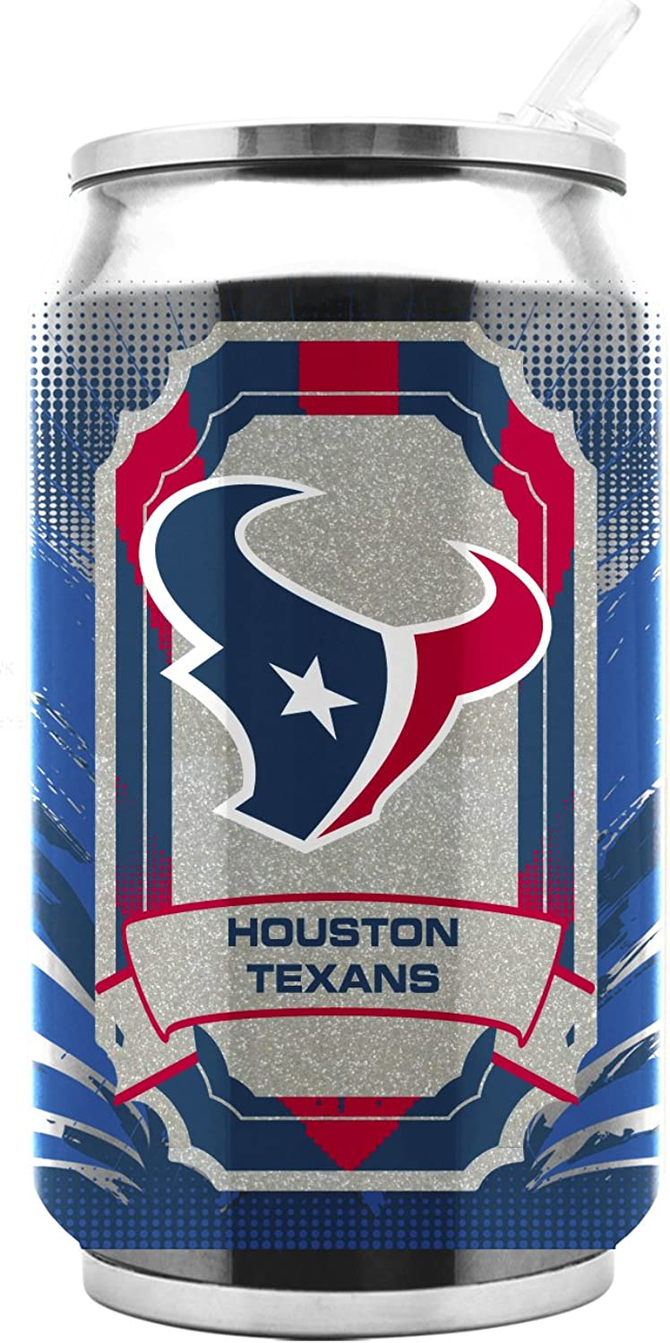 NFL Houston Texans 16oz Double Wall Stainless Steel Thermocan