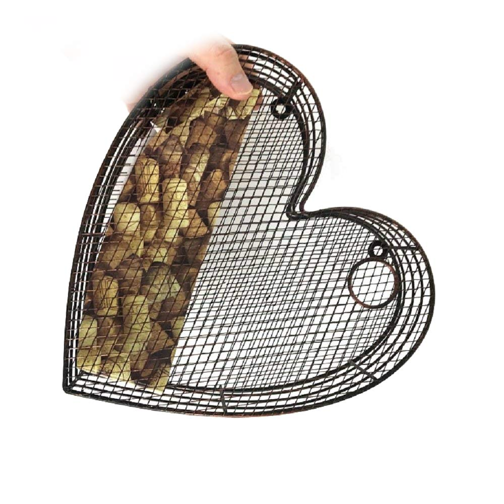 Metal Tabletop or Wall Hanging Heart Wine Cork Holder