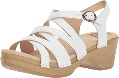Stevie Sandal, White Leather, 42