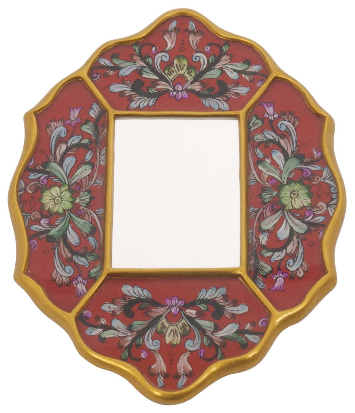 Espejo Peruano Pintado Color Naranja Ian Snow