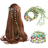 12Pc Flower Crown Headband Floral Wreath Garland Hairband For Girl Mixed Color