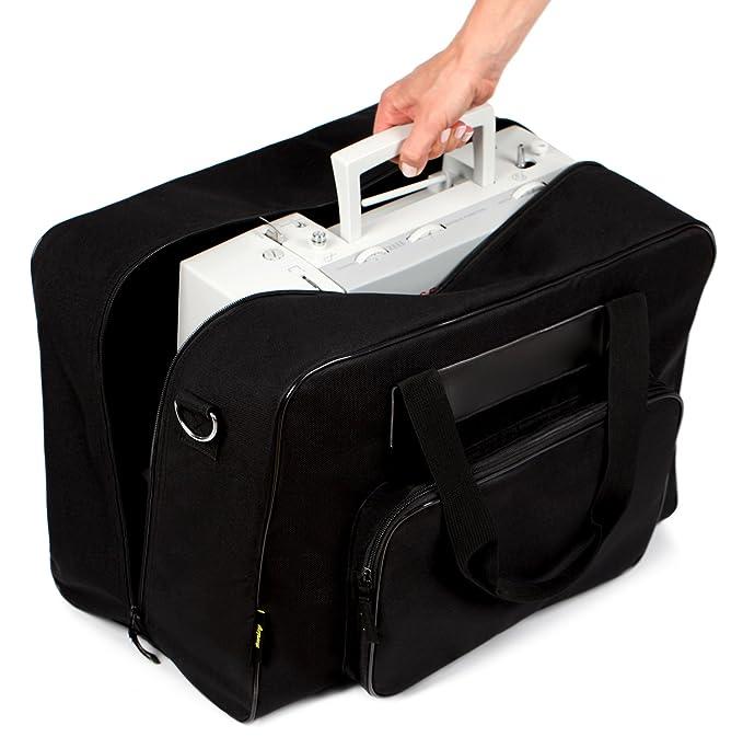Kenley Bolso para Máquina de Coser - Maletas de Transporte con Acolchado - Adaptan a Singer Brother Alfa - 45x25x33 cm (Negro Clásico): Amazon.es: Hogar