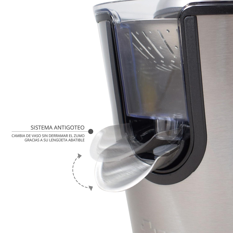 TM Electron Tmpex010/ 160/W grigio Spremiagrumi elettrico con corpo in acciaio inox colore