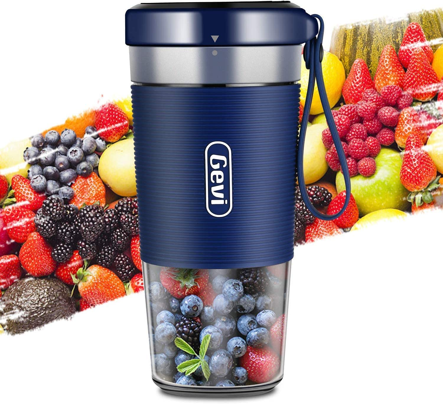 Portable Blender for Juice, Shakes(HK-RV-GEBLA089-N-29), Cordless Personal Size Blenders with USB, Juicer Mixer Cup BPA free and Stainless Steel blade