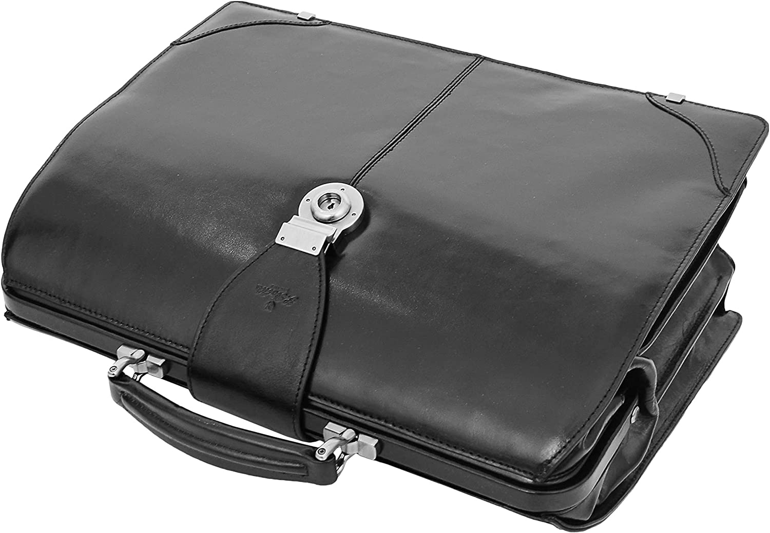 Exclusive Doctors Leather Bag Black Italian Briefcase Lawyers Rep Gladstone Bag Doc
