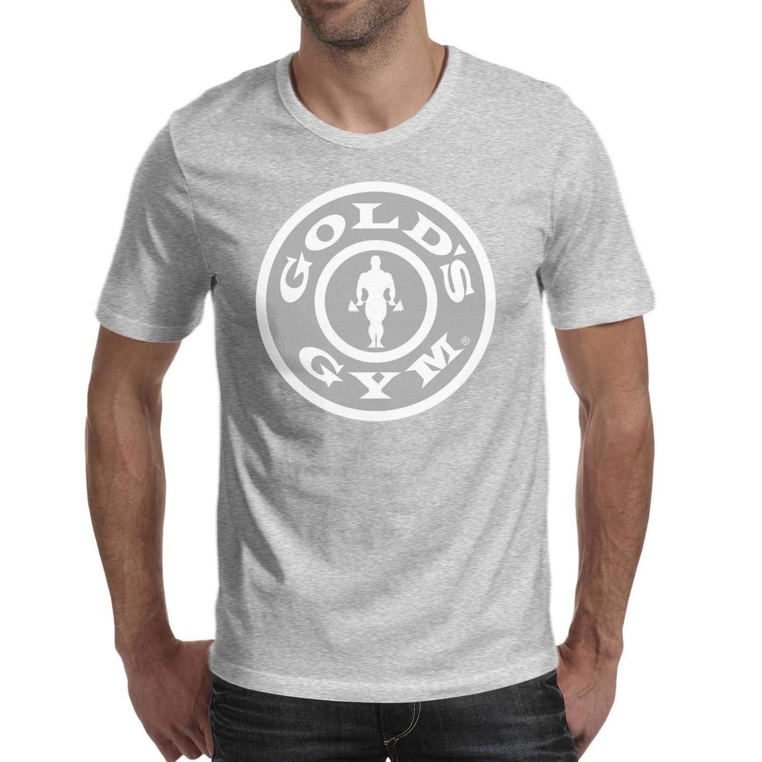 Golds Gym Mens Short Sleeve T Shirt Printing Champion Pullover